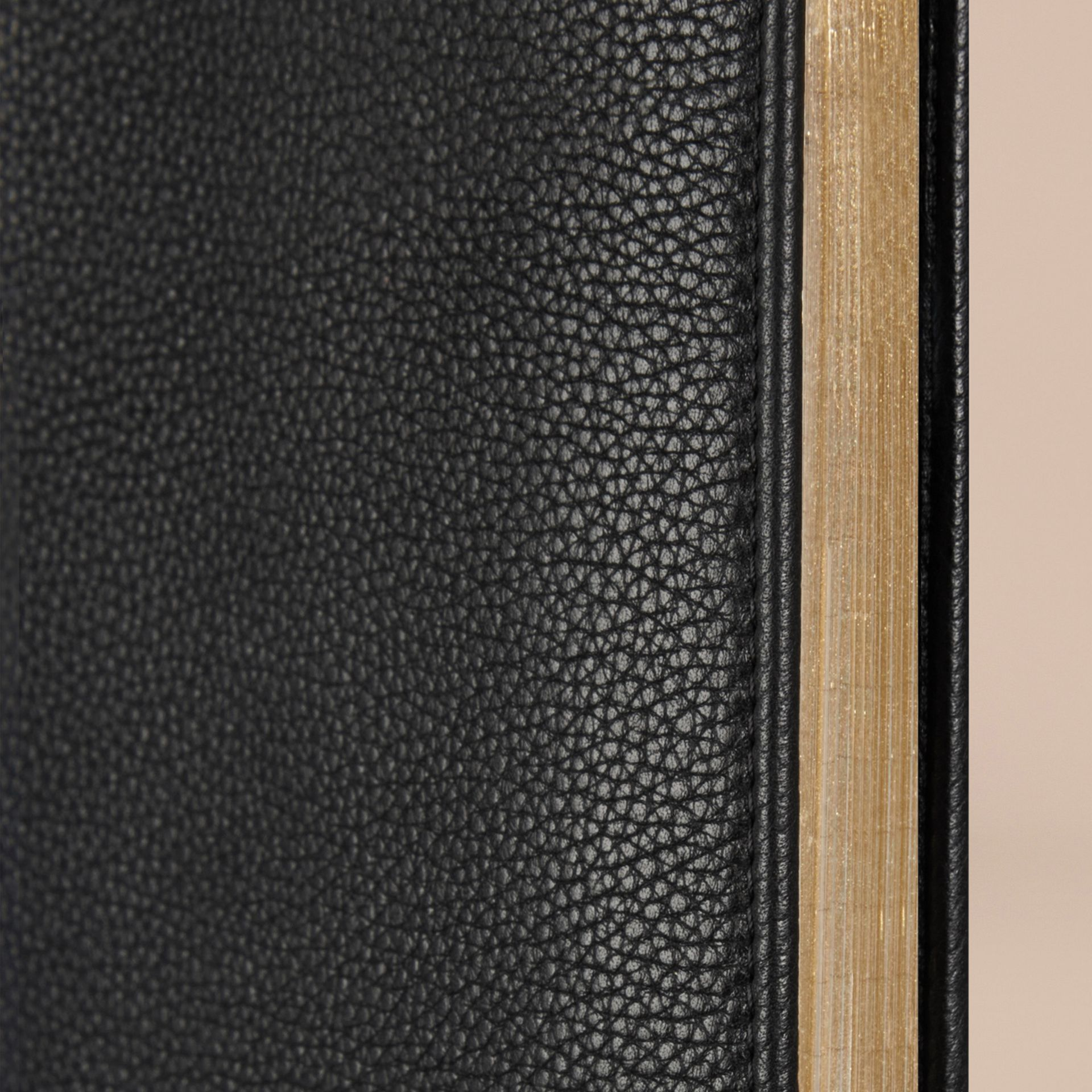 Grainy Leather A4 Notebook in Black | Burberry Canada - gallery image 2