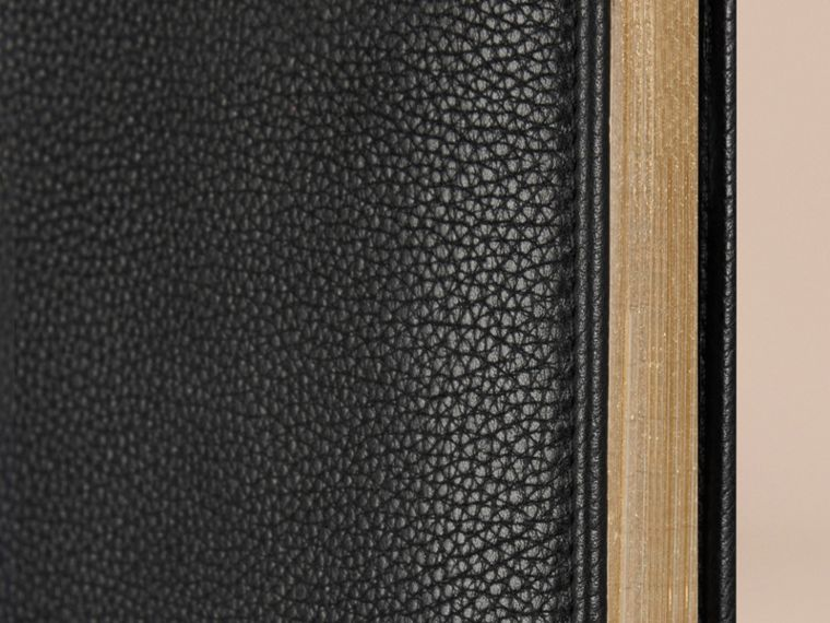 Grainy Leather A4 Notebook in Black | Burberry United Kingdom - cell image 1
