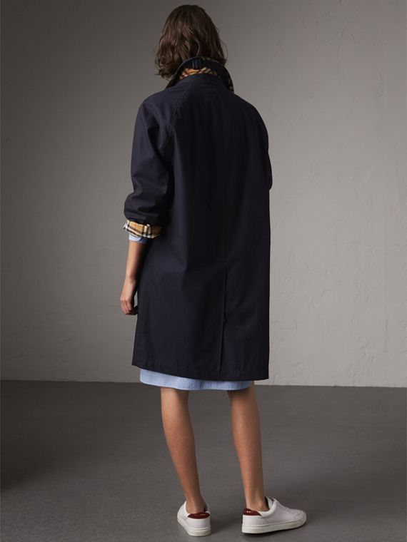 The Camden – Long Car Coat in Blue Carbon - Women | Burberry - cell image 2