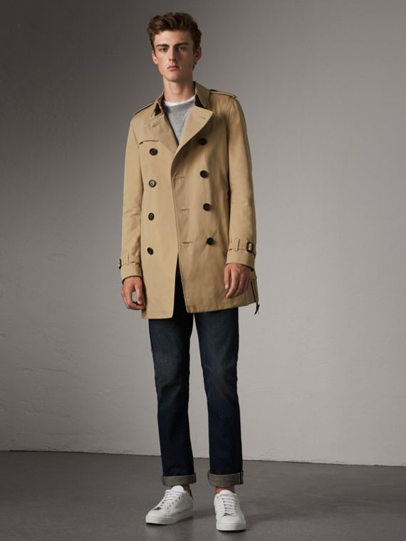 The Chelsea – Mid-length Trench Coat in Honey