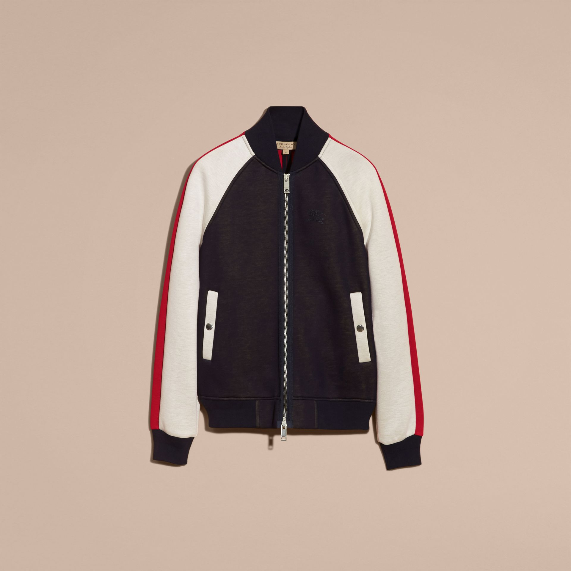 Panelled Jersey Bomber Jacket - Men | Burberry Singapore - gallery image 4