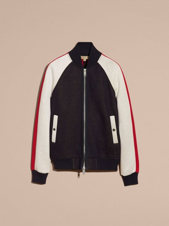 Panelled Jersey Bomber Jacket - Men | Burberry - cell image 3