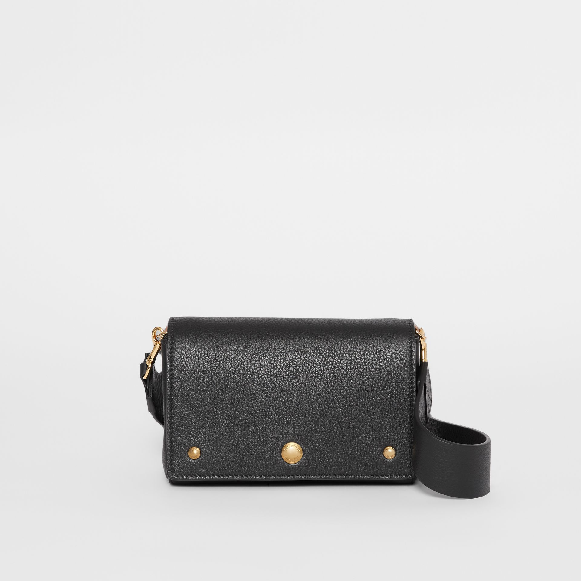 Small Grainy Leather Crossbody Bag in Black - Women | Burberry - gallery image 0