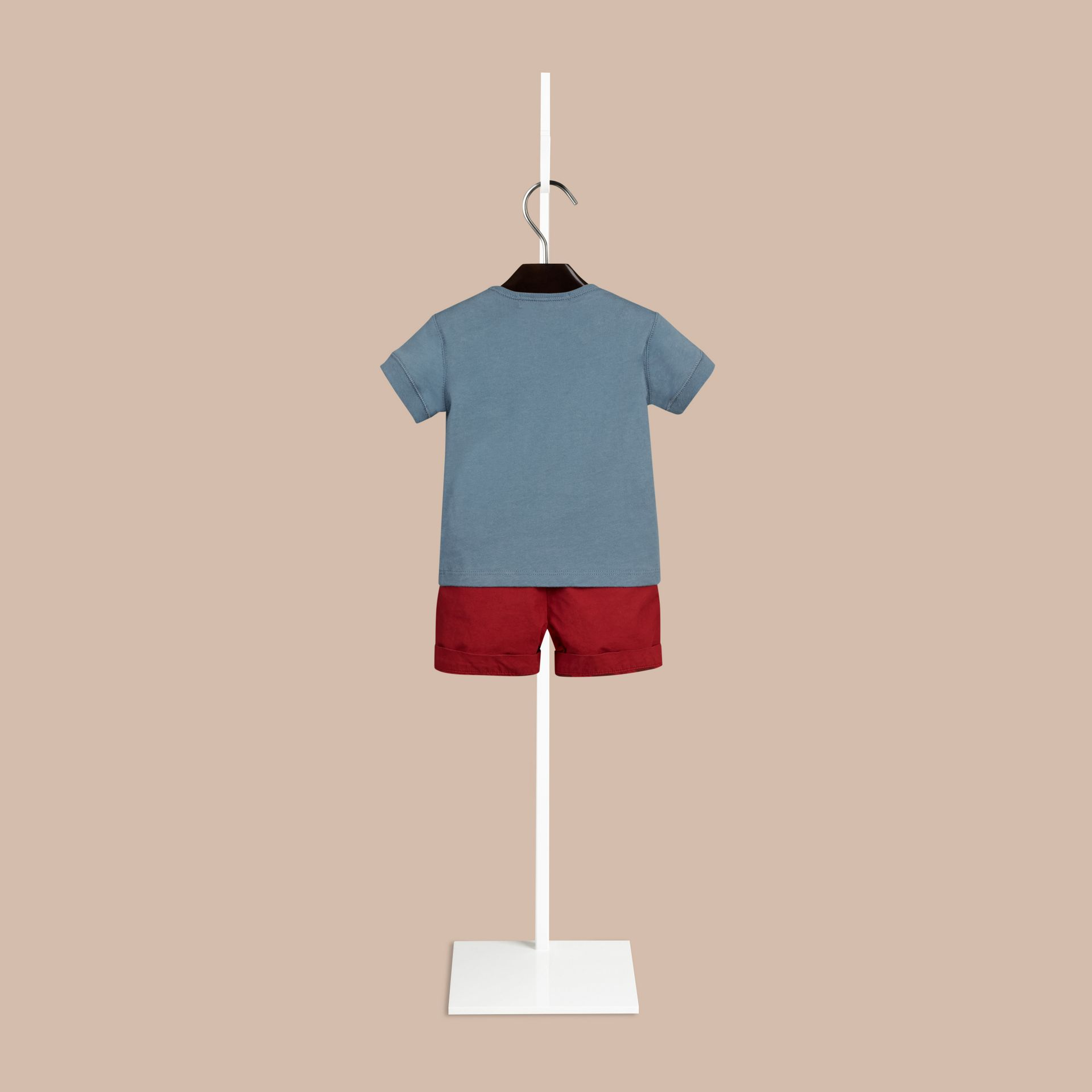 Lupin blue Check Pocket T-Shirt Lupin Blue - gallery image 2