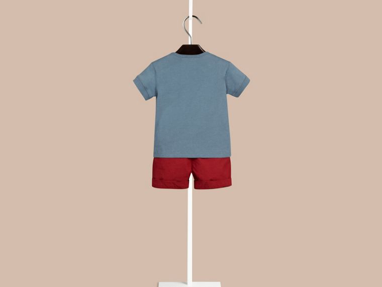 Lupin blue Check Pocket T-Shirt Lupin Blue - cell image 1