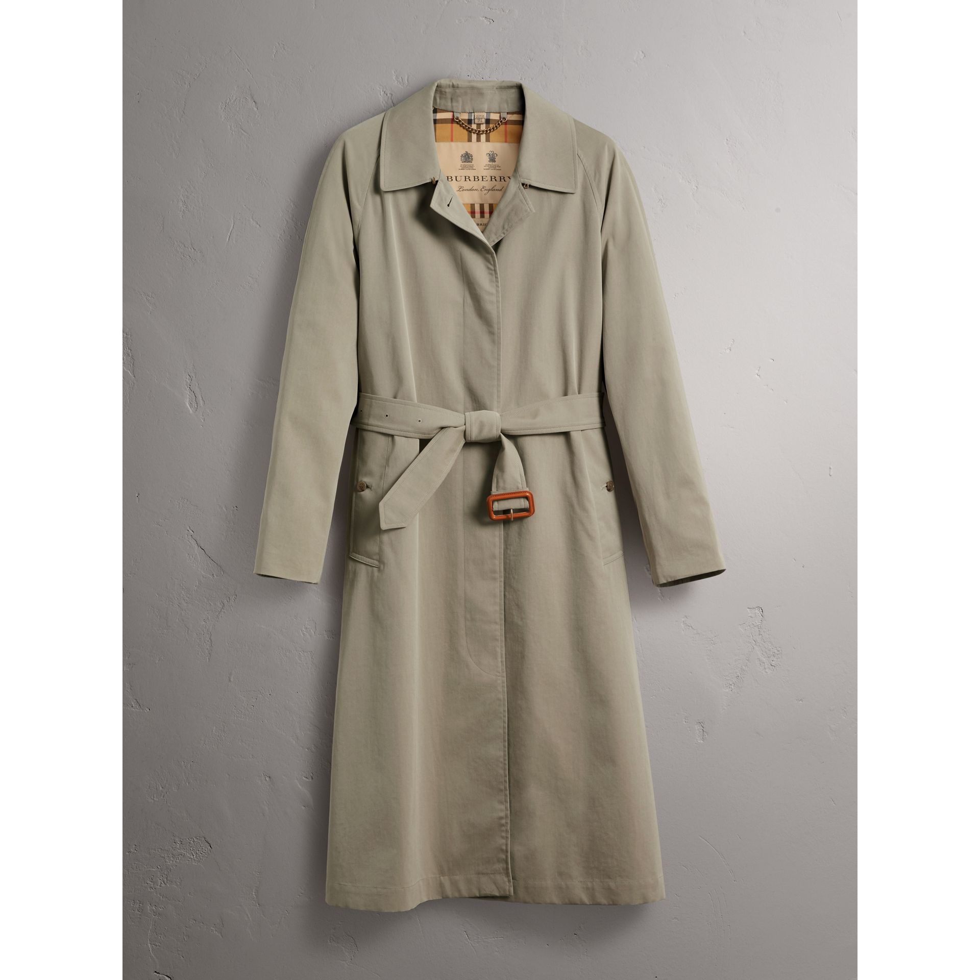 The Brighton – Extra-long Car Coat in Sandstone - Women | Burberry Singapore - gallery image 4