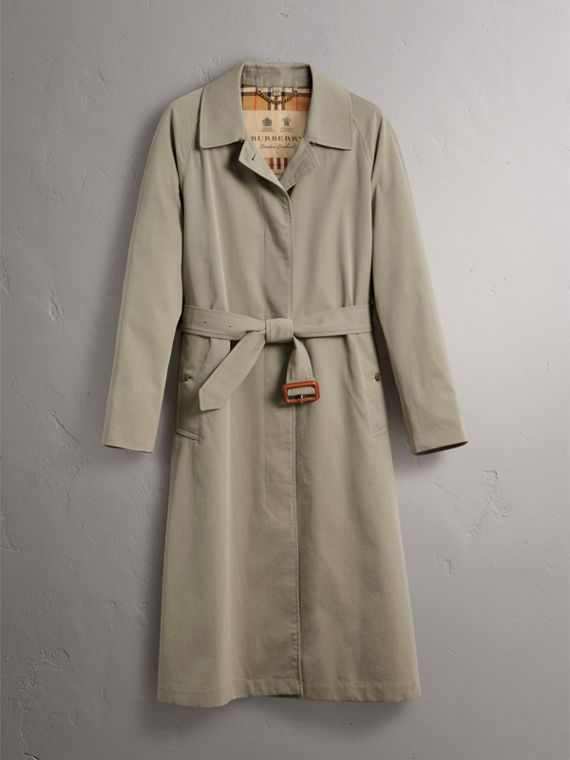 The Brighton – Extra-long Car Coat in Sandstone - Women | Burberry - cell image 3