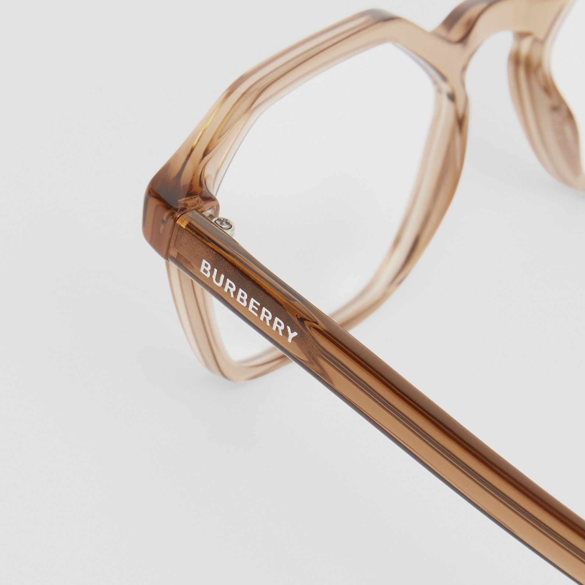 Geometric Optical Frames in Brown - Women | Burberry - gallery image 1