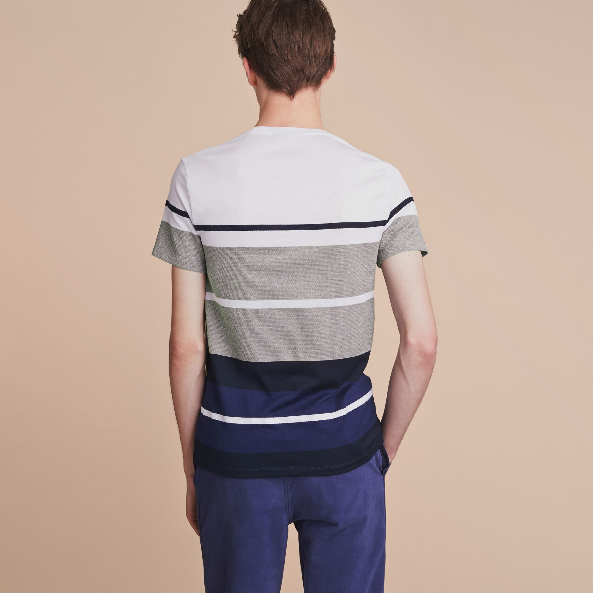 Striped Cotton T-shirt - gallery image 3