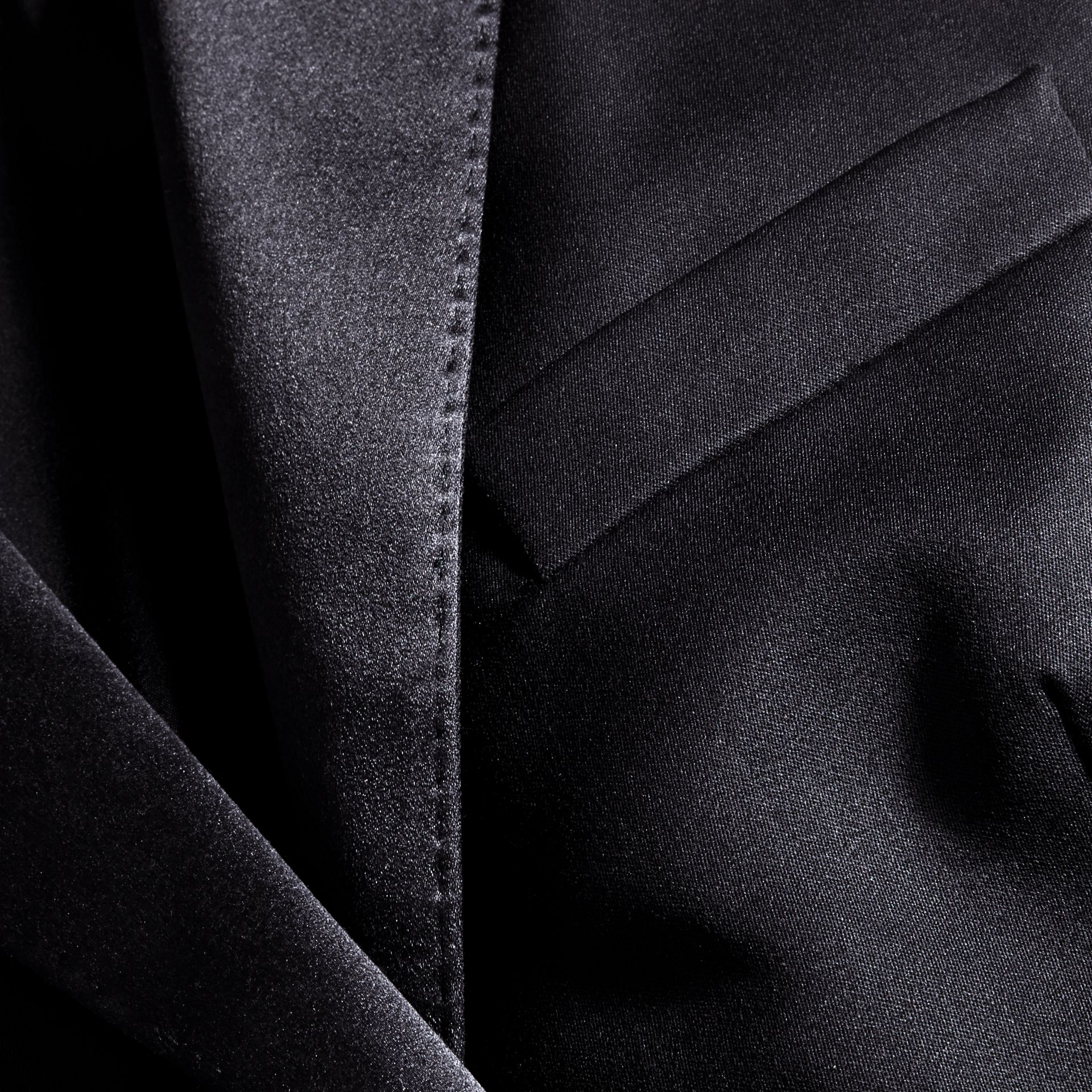 Wool Blend Tuxedo Jacket in Ink - Women | Burberry - gallery image 2
