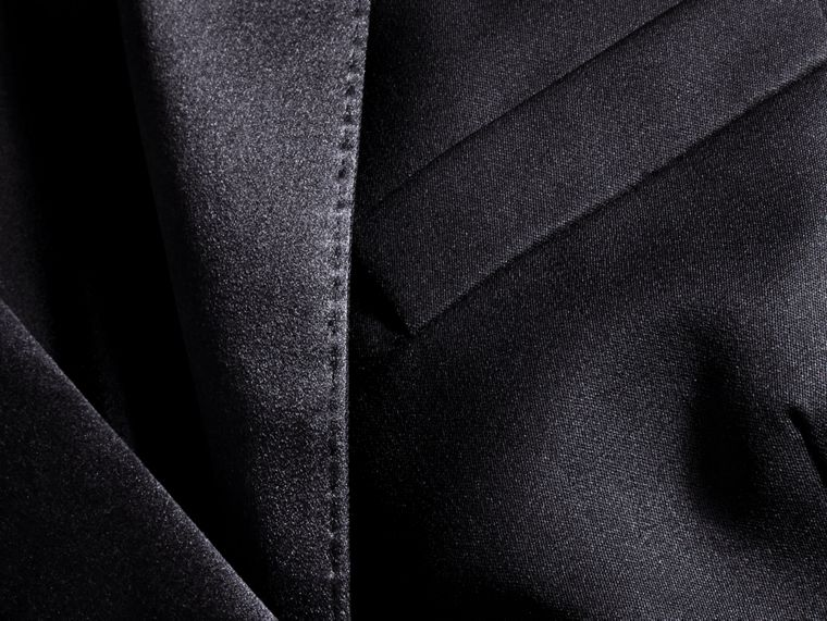 Wool Blend Tuxedo Jacket in Ink - Women | Burberry - cell image 1