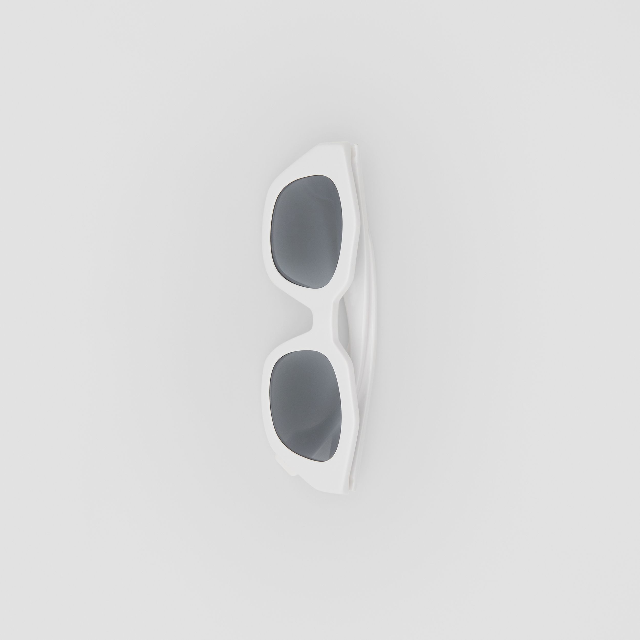 Geometric Frame Sunglasses in White | Burberry - 4