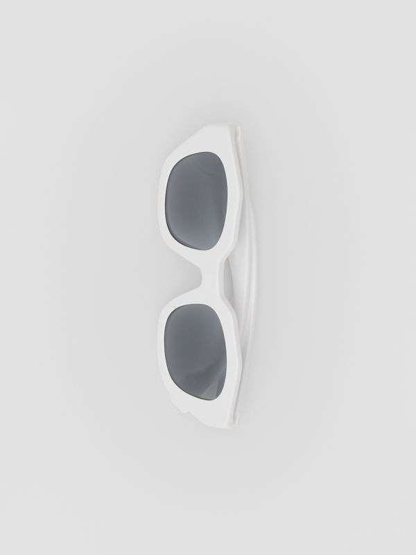 Geometric Frame Sunglasses in White - Women | Burberry - cell image 3
