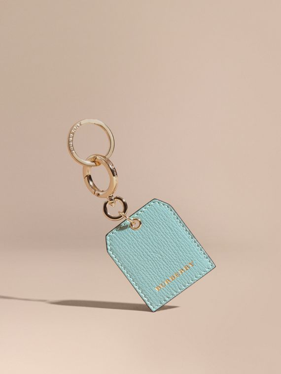 Grainy Leather Key Charm in Pale Opal | Burberry