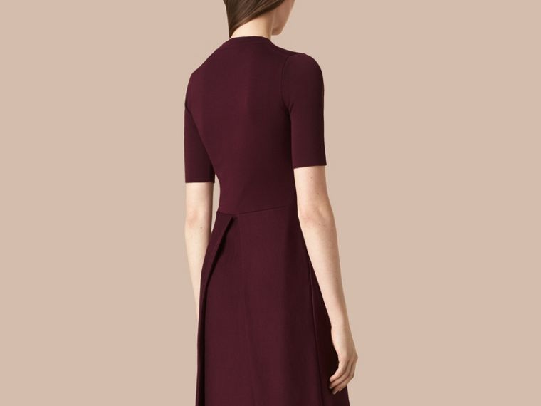 Deep burgundy Knitted Silk Wool Dress Deep Burgundy - cell image 1