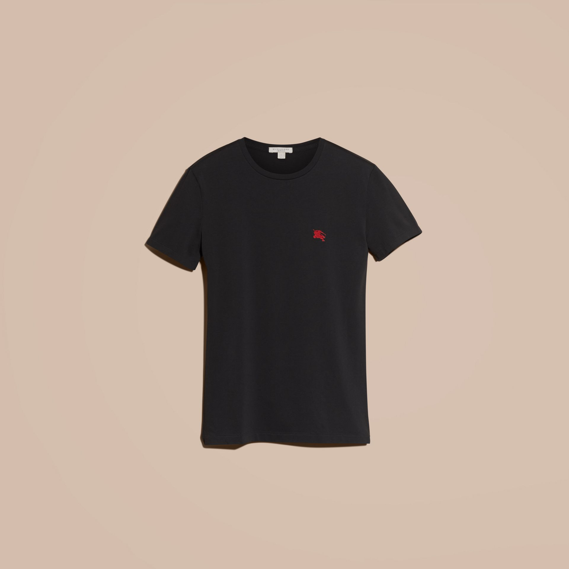 Cotton Jersey T-shirt Black - gallery image 4