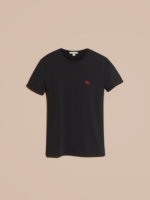 Black Liquid-soft Cotton T-Shirt Black - cell image 3