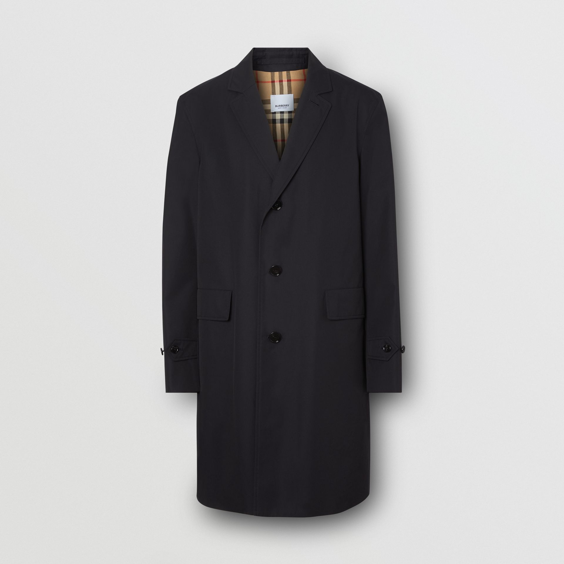 Cotton Gabardine Car Coat in Midnight Navy - Men | Burberry - gallery image 3