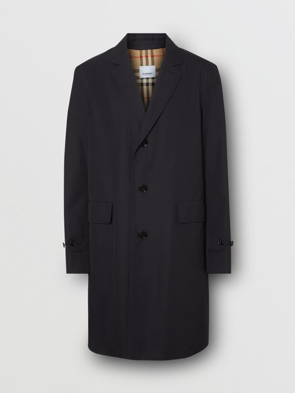 Cotton Gabardine Car Coat in Midnight Navy - Men | Burberry - cell image 3