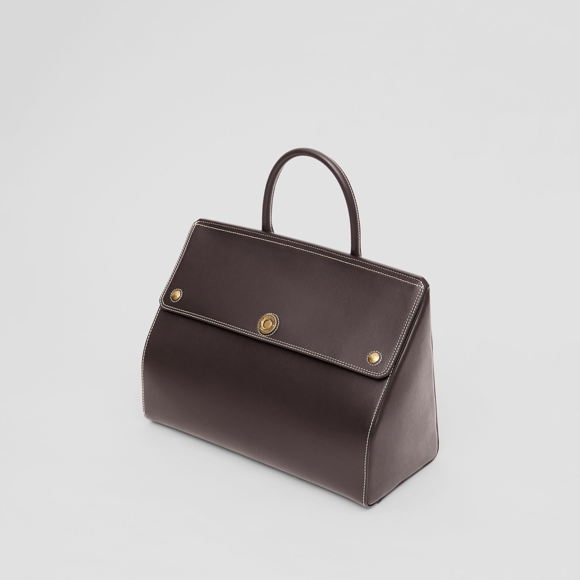 Medium Leather Elizabeth Bag in Coffee - Women | Burberry - gallery image 3