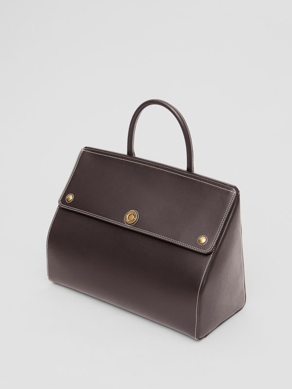 Medium Leather Elizabeth Bag in Coffee - Women | Burberry Canada - cell image 3