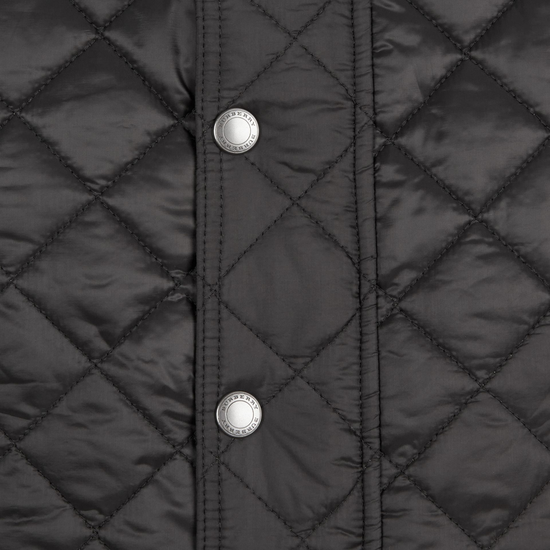 Diamond Quilted Jacket in Black - gallery image 2