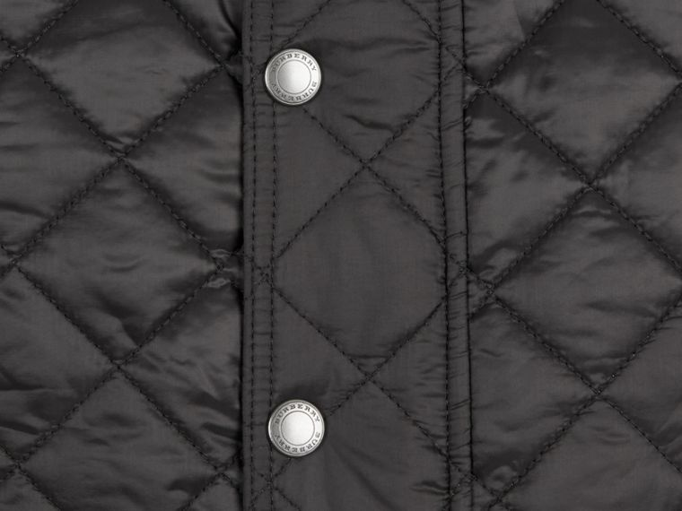 Diamond Quilted Jacket in Black - cell image 1