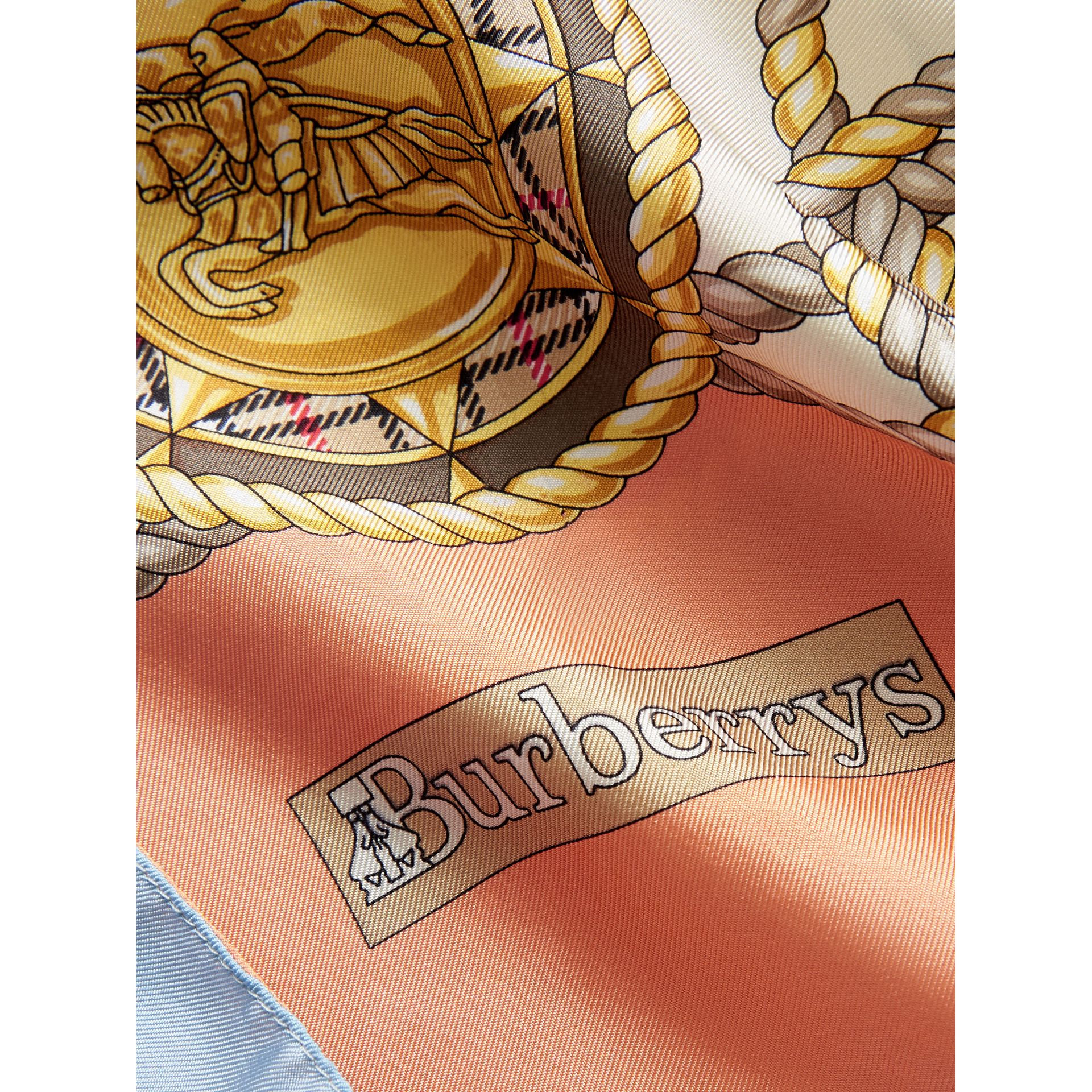 Archive Print Silk Scarf in Multicolour - Women | Burberry - gallery image 1