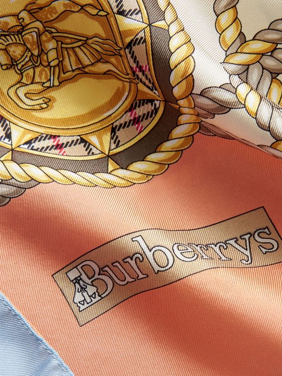 Archive Print Silk Scarf in Multicolour - Women | Burberry - cell image 1