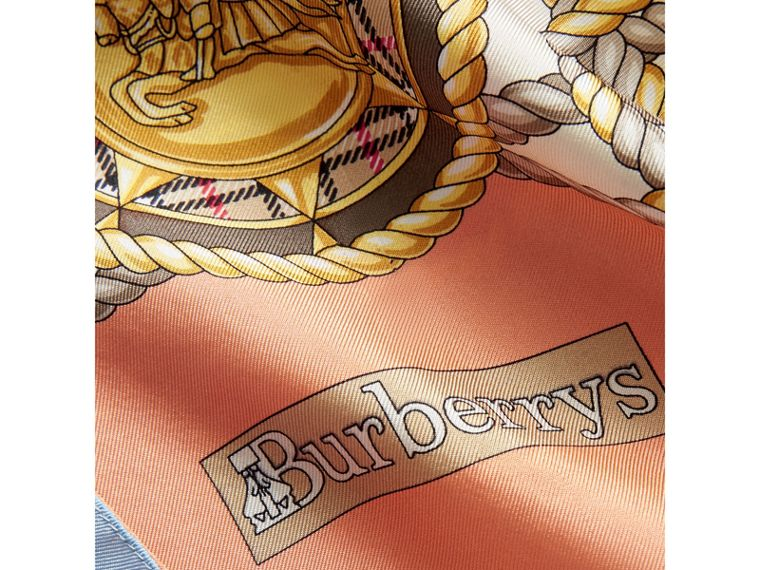 Archive Print Silk Scarf in Multicolour - Women | Burberry Canada - cell image 1