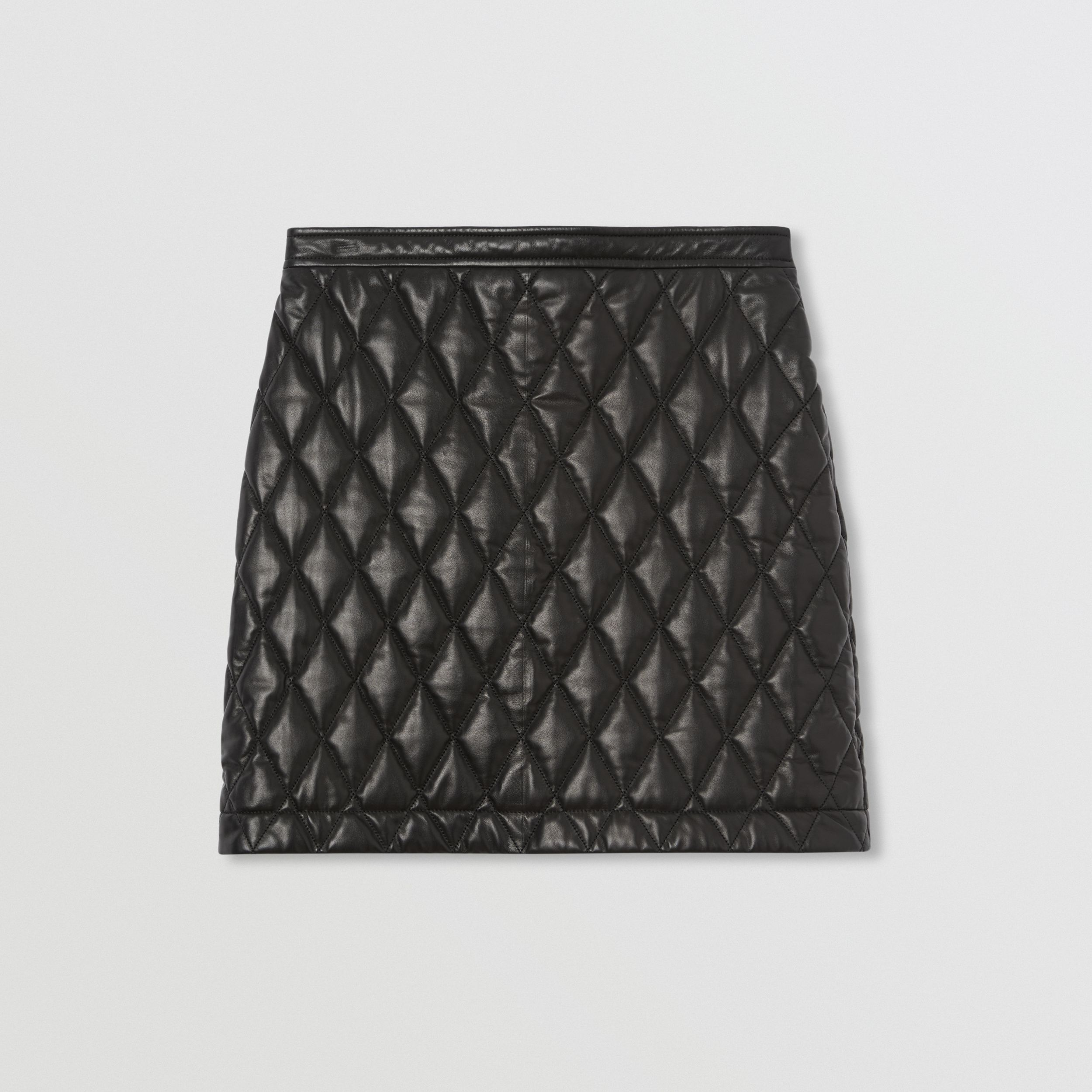 Diamond Quilted Lambskin Mini Skirt in Black - Women | Burberry - 4