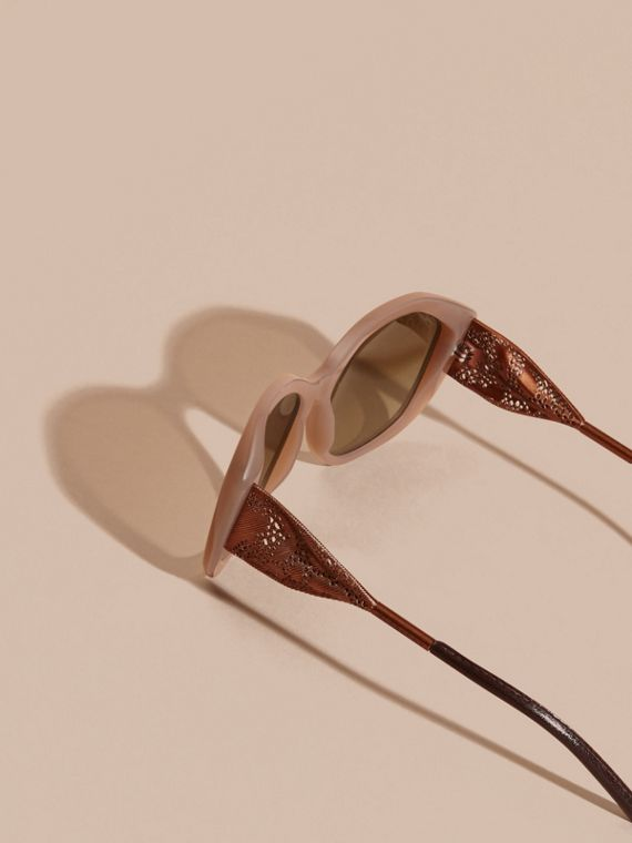 Opal melange Gabardine Lace Collection Square Frame Sunglasses Opal Melange - cell image 3