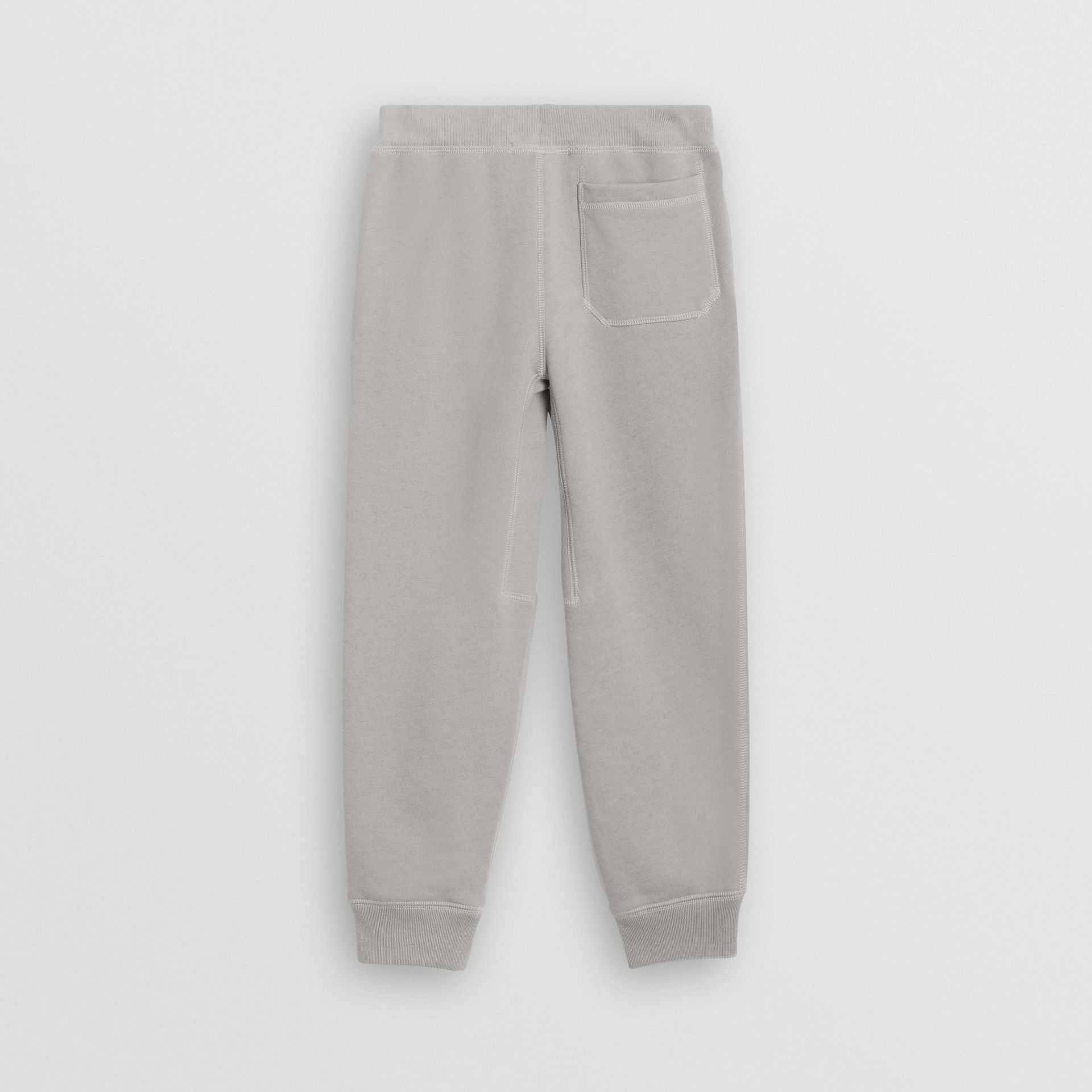 Cotton Jersey Trackpants in Chalk Grey Melange | Burberry - gallery image 3