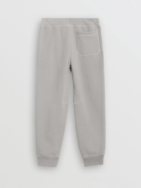 Cotton Jersey Trackpants in Chalk Grey Melange - Children | Burberry - cell image 3