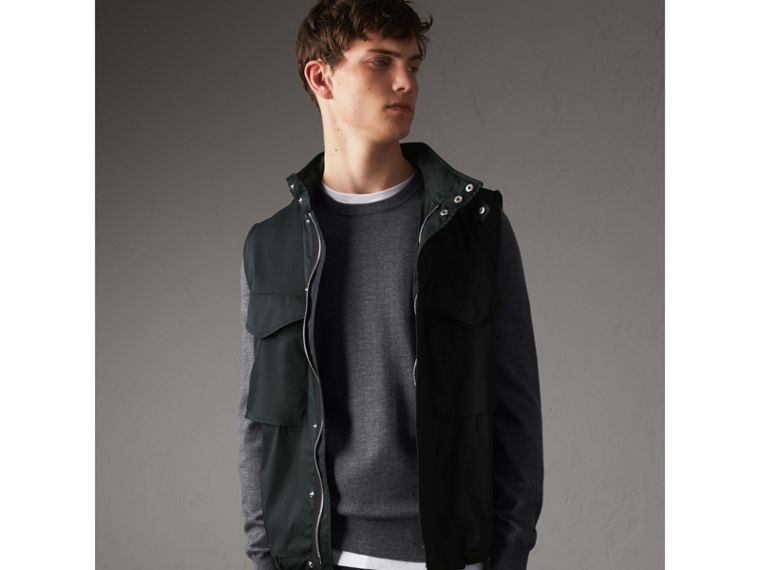 Longline Cotton Blend Field Jacket with Detachable Gilet - Men | Burberry - cell image 4