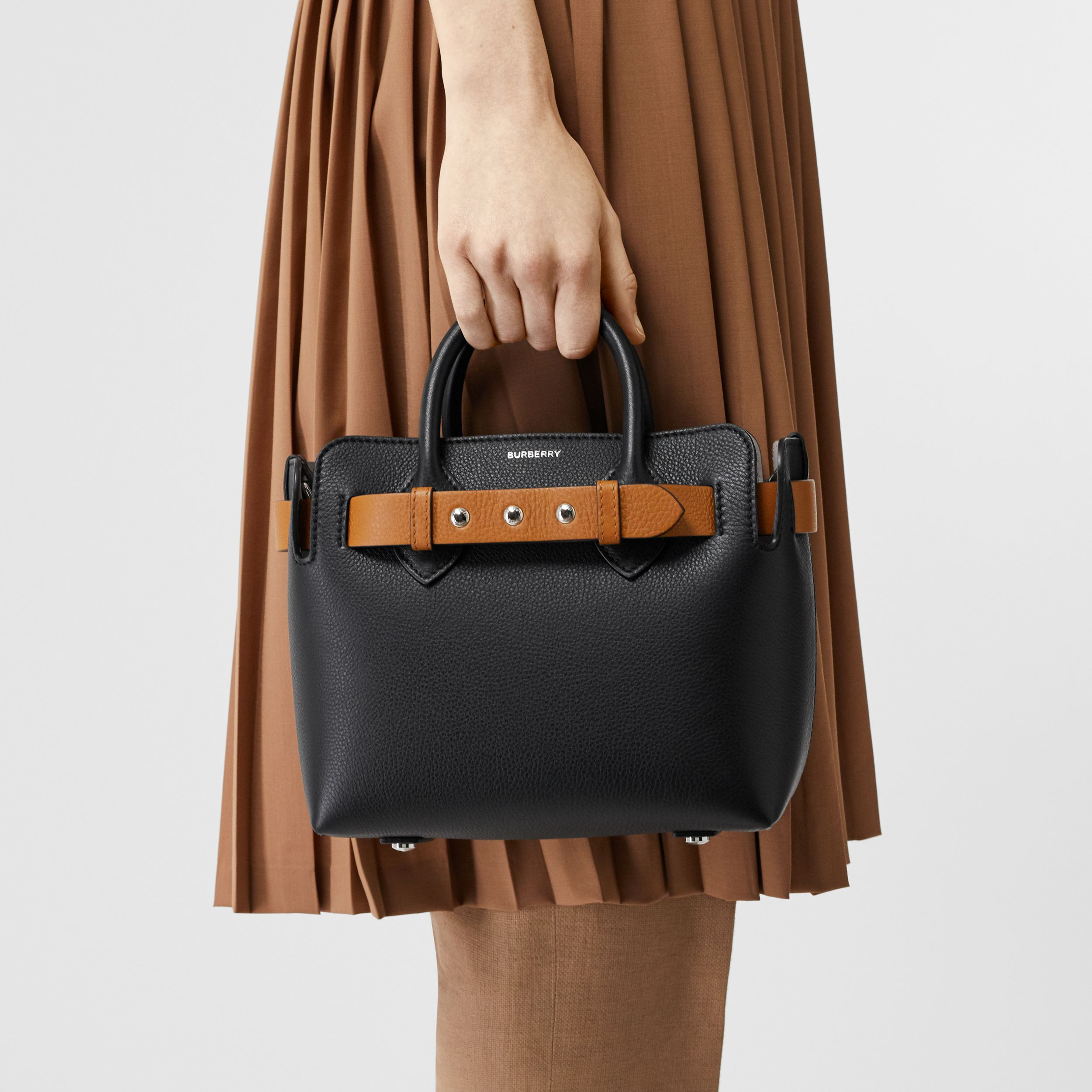 The Mini Leather Triple Stud Belt Bag in Black - Women | Burberry Australia - 3