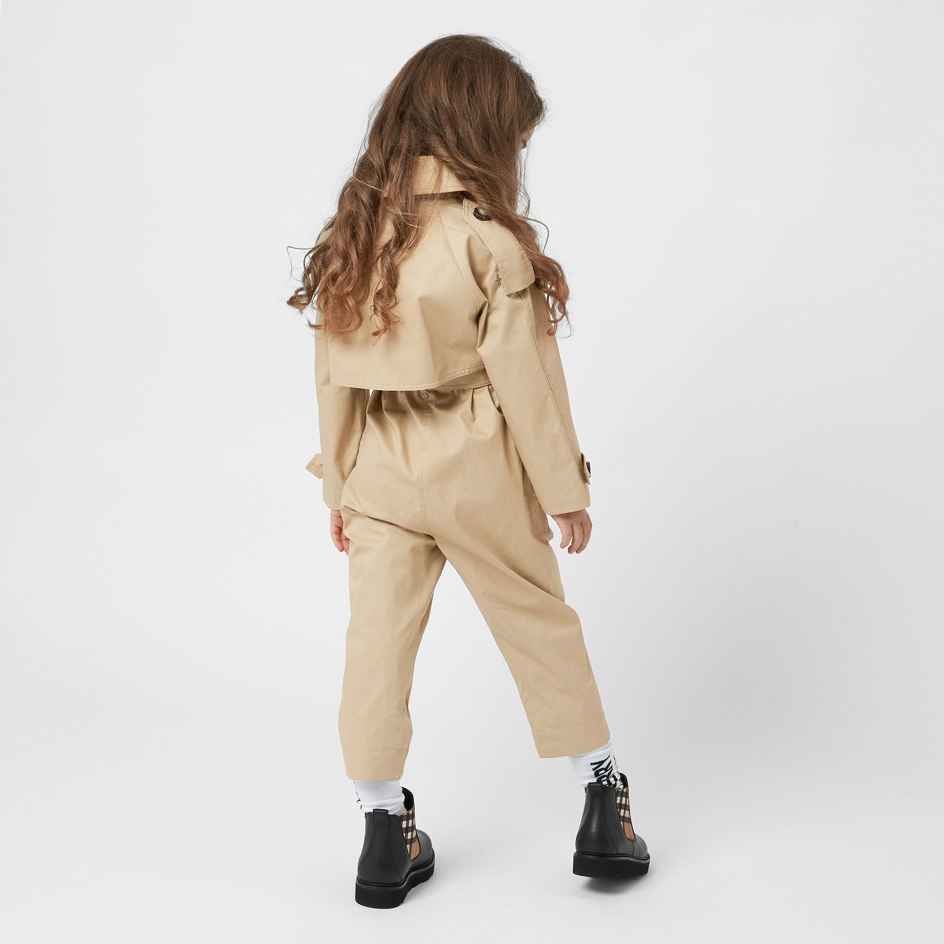 Cotton Trench Jumpsuit in Honey | Burberry Canada - gallery image 3