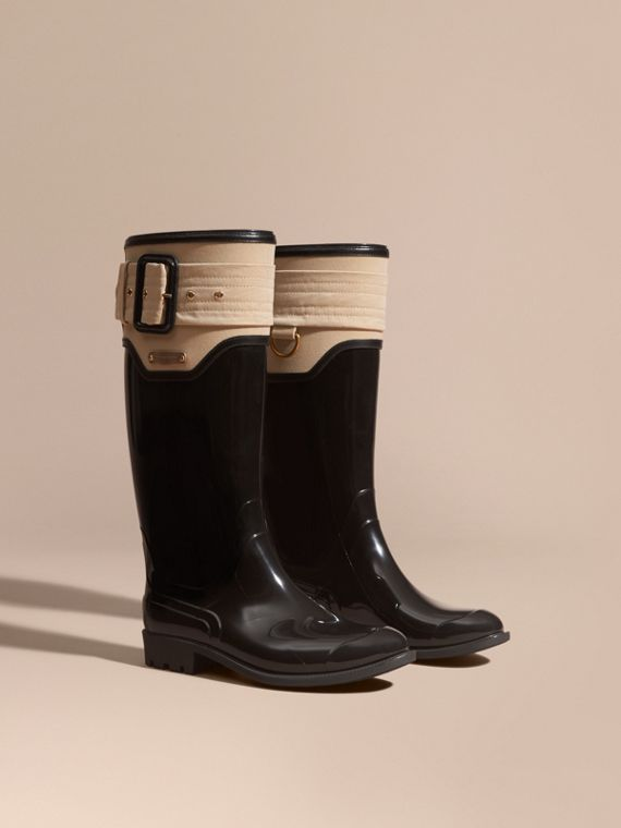 Trench Belt Detail Rain Boots - Women | Burberry