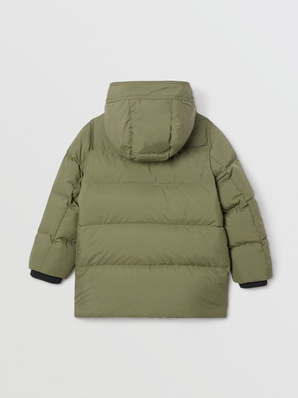 Detachable Hood Down-filled Puffer Coat in Poplar Green | Burberry - cell image 3