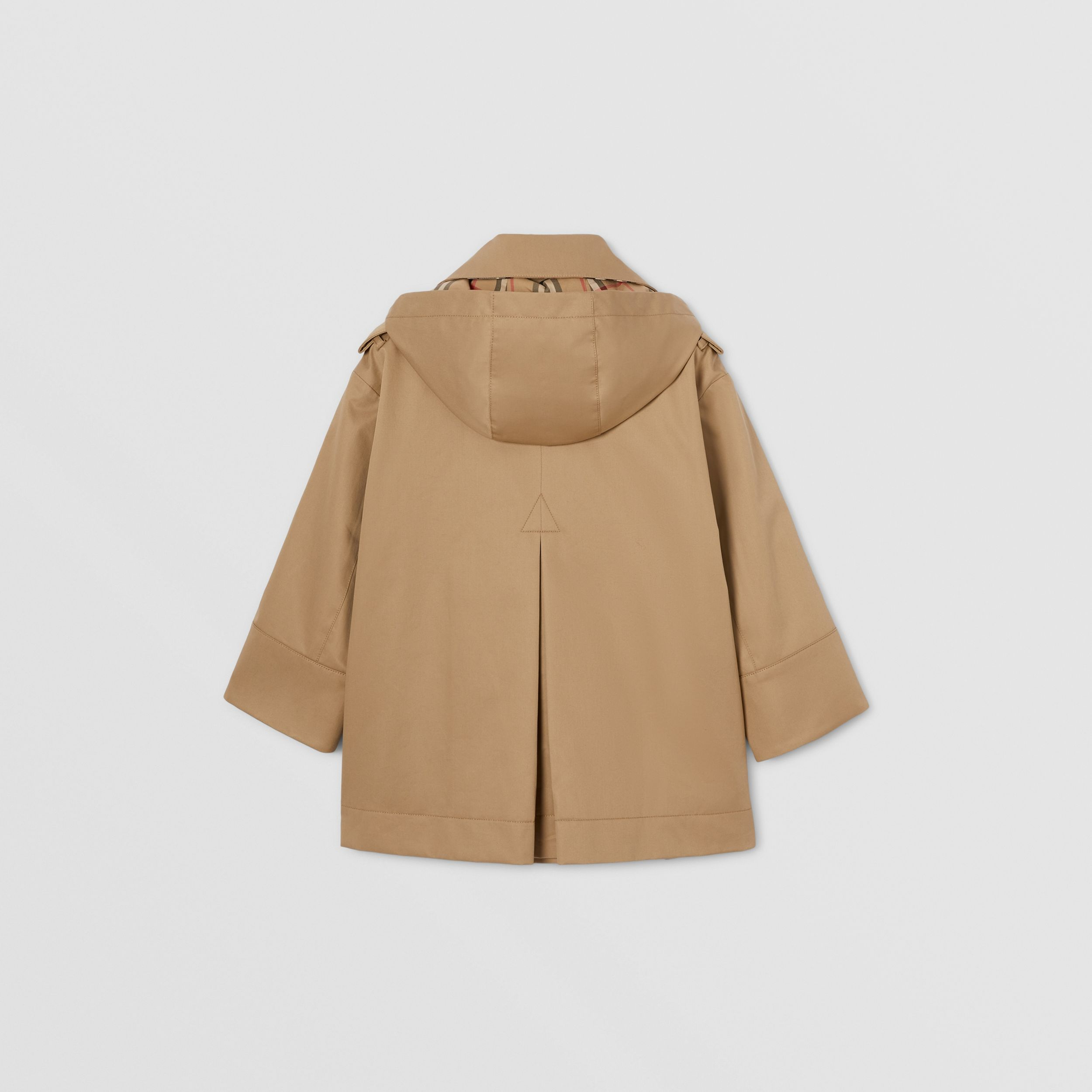 Cotton Twill Hooded Trench Coat in Honey | Burberry Canada - 4
