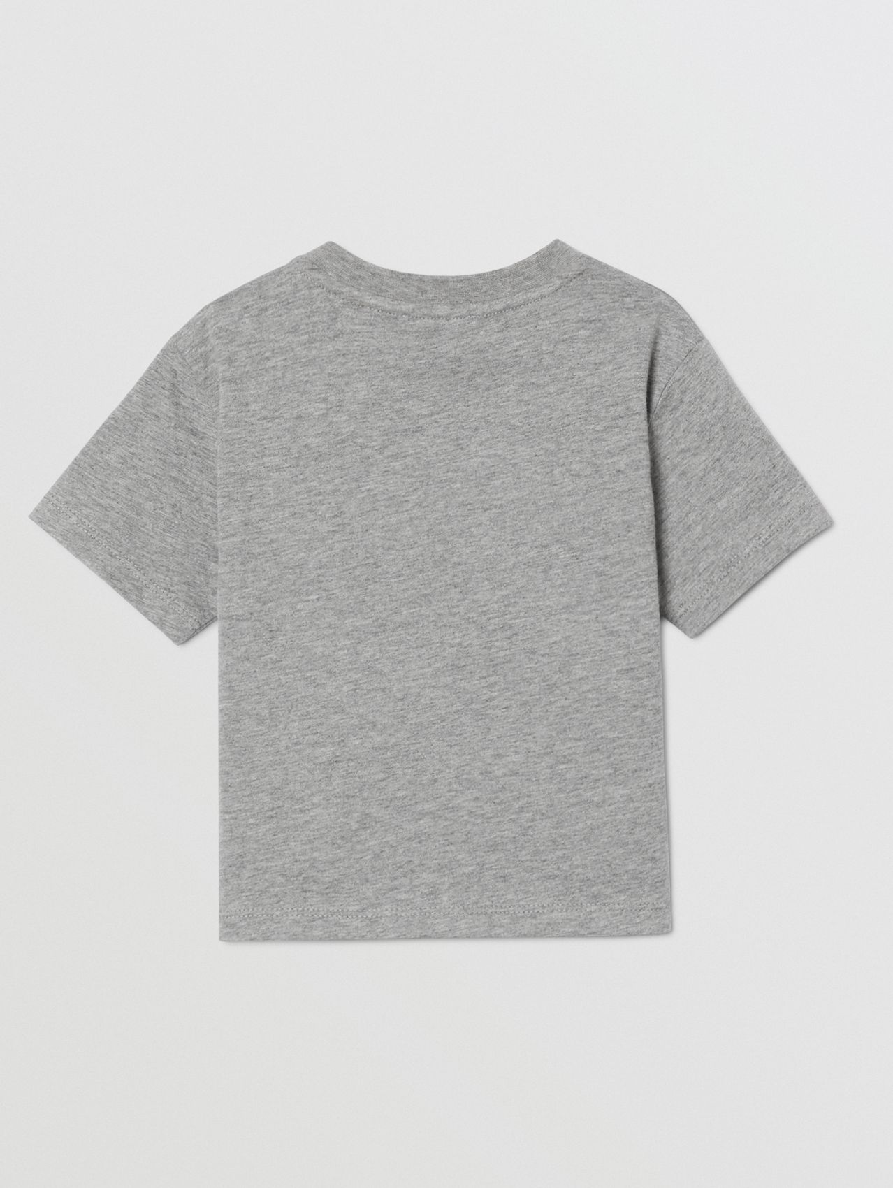 Logo Print Cotton T-shirt (Grey Melange)