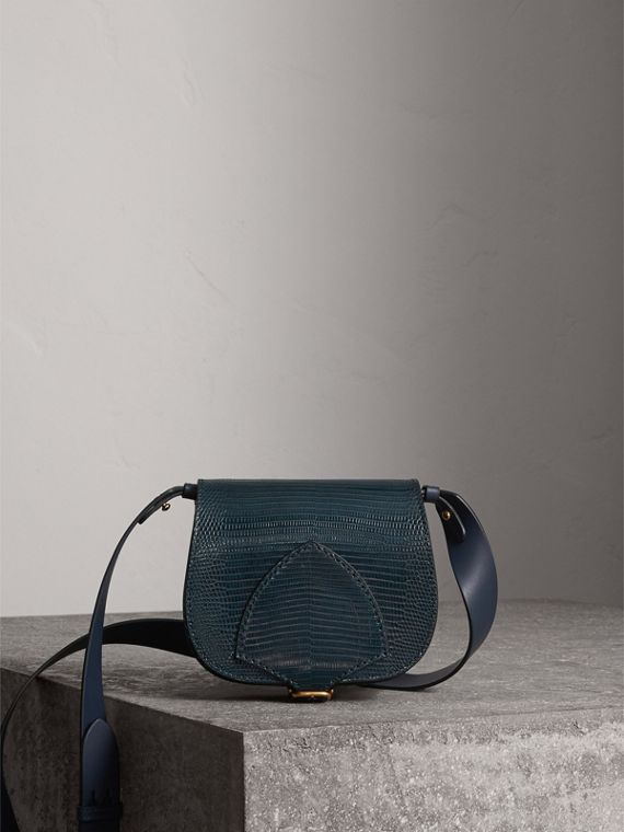 The Satchel in pelle di lucertola (Navy)