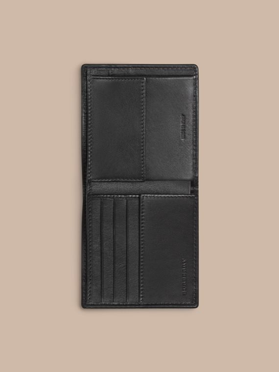 Horseferry Check International Bifold Coin Wallet in Charcoal/black - Men | Burberry - cell image 3