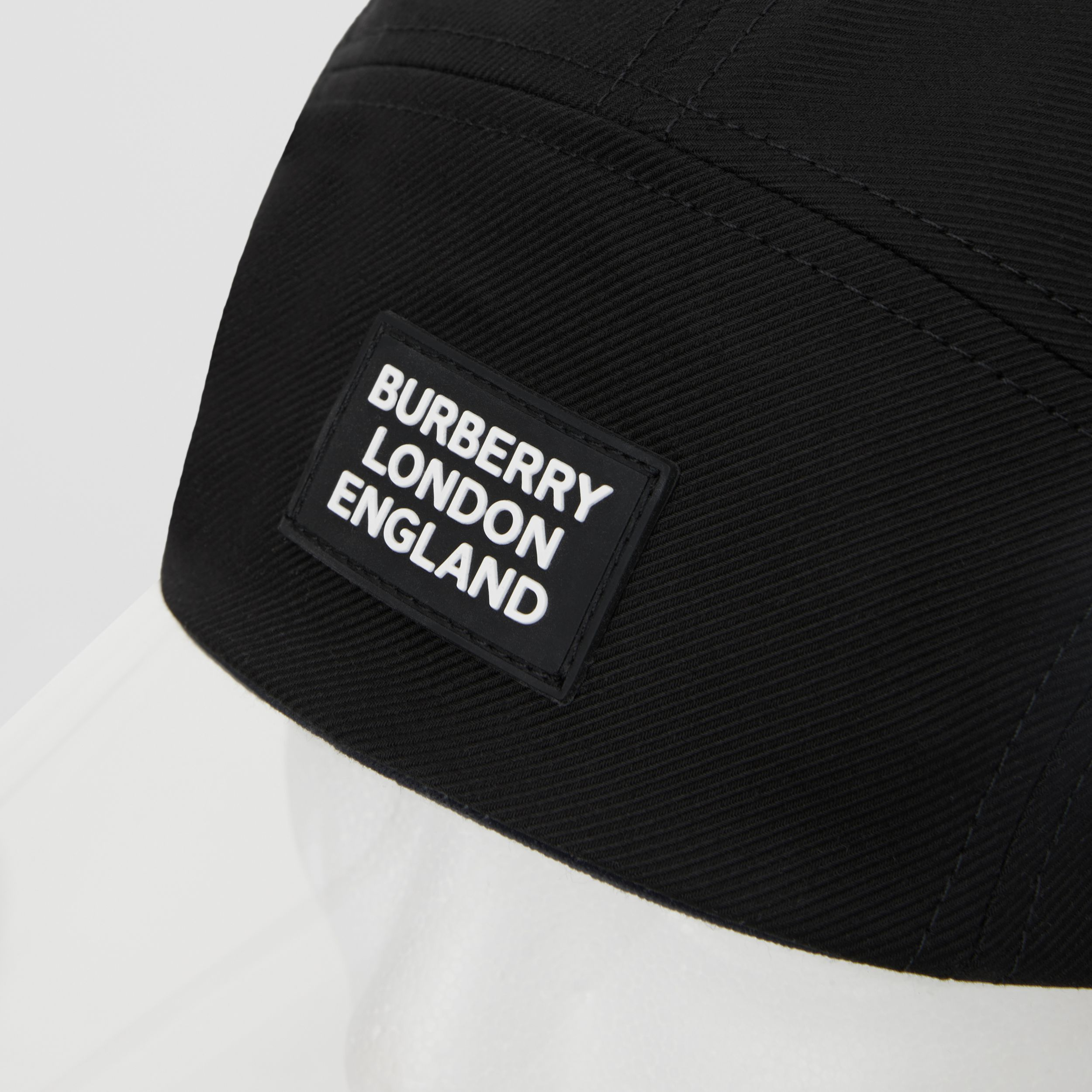 Transparent Detail Cotton Twill Bonnet Cap in Black | Burberry - 4