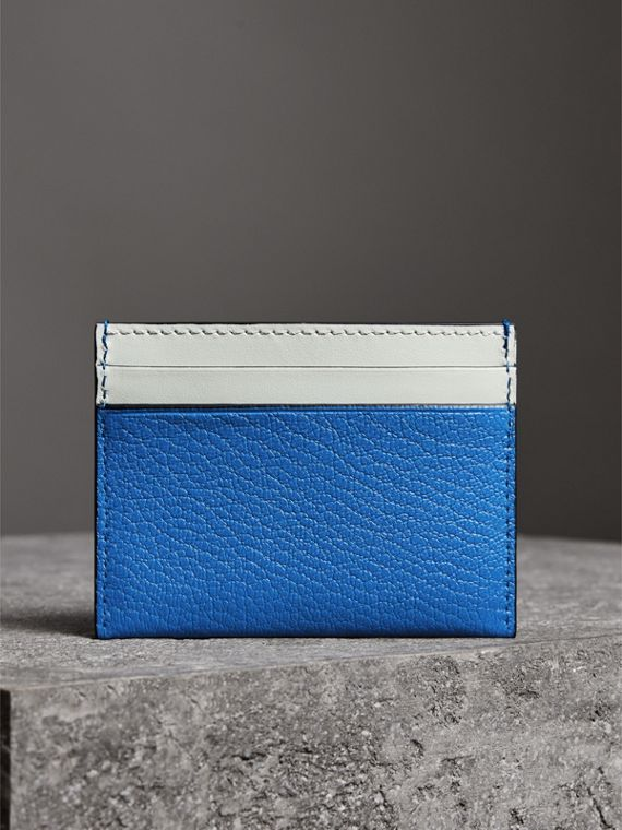 Two-tone Leather Card Case in Hydrangea Blue | Burberry United Kingdom - cell image 2