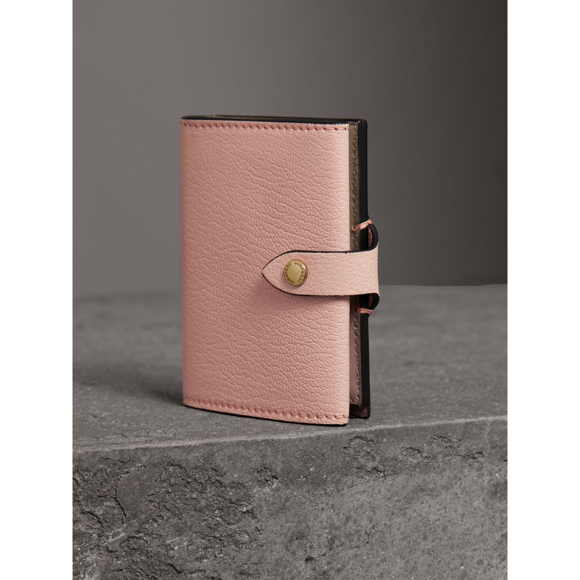 Equestrian Shield Leather Continental Wallet in Pale Ash Rose - Women | Burberry - gallery image 2