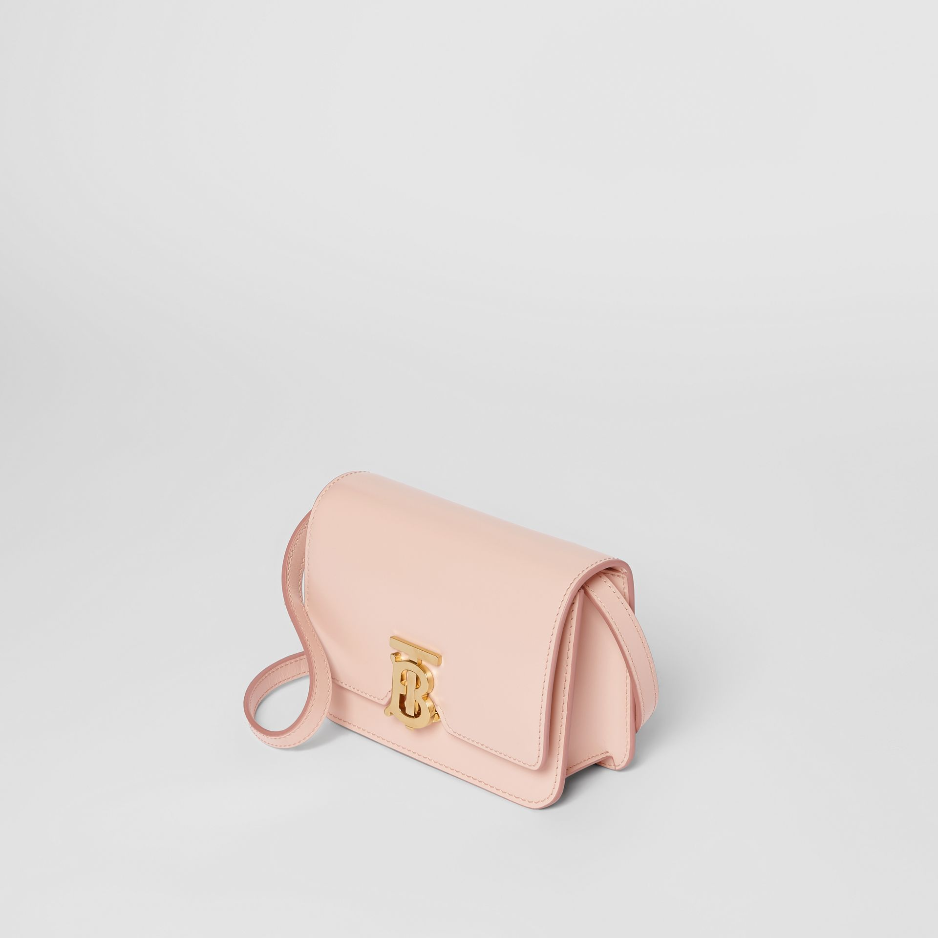 Mini Leather TB Bag in Rose Beige - Women | Burberry - gallery image 3