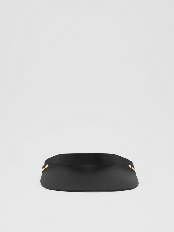 Studded Leather Visor in Black