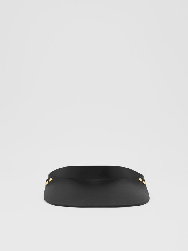 Studded Leather Visor in Black | Burberry - cell image 2