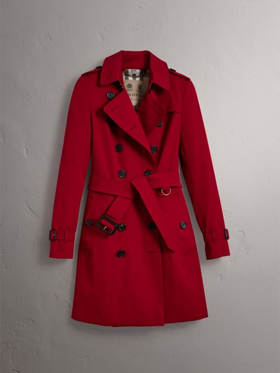 The Chelsea – Mid-length Heritage Trench Coat in Parade Red - Women | Burberry - cell image 3